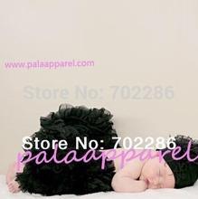 A ordem pequena Preto chiffon bebê saia tutu fofo bebê pettiskirts meninas infantis desgaste do bebê saia tutu(China (Mainland))