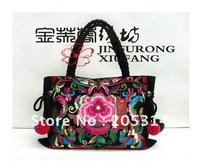 Ladies HandbagS Yunnan Embroidered Bags Ethnic Style Bag Totes Phoenix with Flowers Hmong Bag Vintage Embroidery