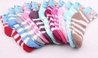 New WOMENS Girl Winter Soft WARM Fuzzy Socks Home Towel Soft Thick Towel Socks floor carpet socks whcn+