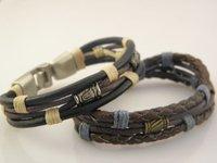 Min Order $20 Wholesale Stylish Genuine Leather Wristband Bracelets For Men Best Quality Xmas Gift