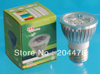 Free shipping,E27 4W Led spotlight, 4W Led bulb with E27 base,Epistar led chip,high Brightness, CE,2 Years Warranty,100pcs/Lot