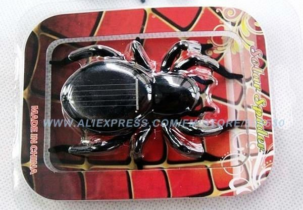 Sloar spider Mini Solar Toy Solar Energy Powered Spider,Kids' Toy,cute present Freeshipping 12 pieces/lot(China (Mainland))
