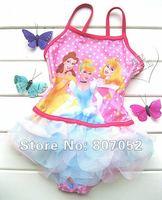 Free Shipping Girl Princess Baby Kid Swimsuit Swimwear Swimming Costume Bathers SZ 1-9 Y  GS49