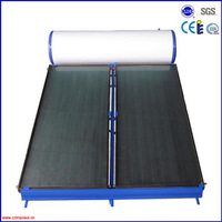 100L integrated low pressure black chrome flat panel solar water heater