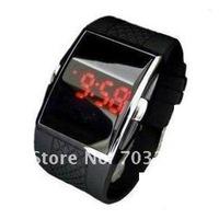5pcs/lot freeshipping!Black Sport LED Digital Wrist Watch Mens Unisex fashion watch !