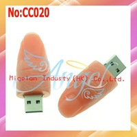 2014 Promotion Top Fasion Stock Plastic Wholesale 1-64gb Usb Flash Drives for Fingers Disk free Shipping 1 Year Warranty #cc020