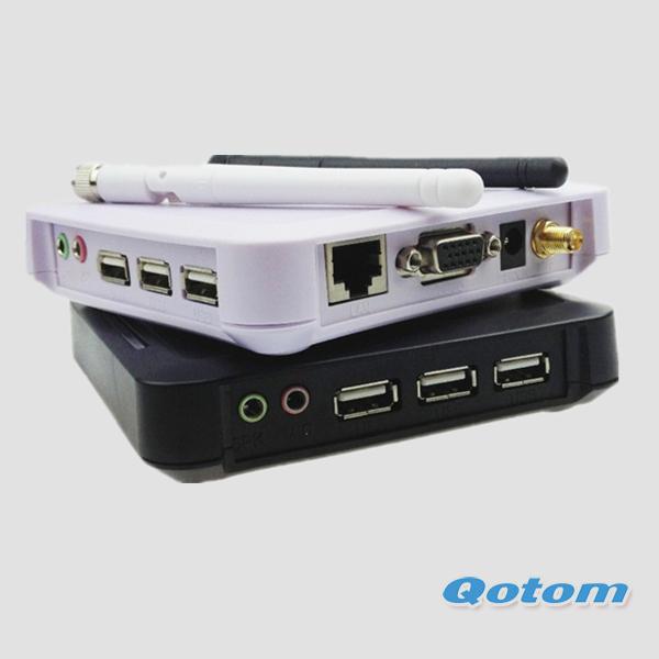 QOTOM-C30W Cloud computing terminal,lowest price pc station,3 USB ports,and win ce 6.0,stand-alone computer(China (Mainland))