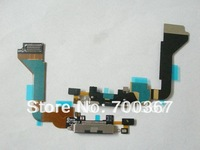 100pcs/lot Guaranteed 100% gsm charger dock connector flex cable for Ip 4g+free shipping
