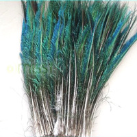 Free Shipping Wholesale 100pcs/lot Sword Peacock Feather 30-35cm Craft Findings Fluffy Dress Hat jewelry Christmas Decoration