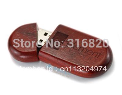 Wooden usb flash drive 4GB Free custom logo with silk print(China (Mainland))