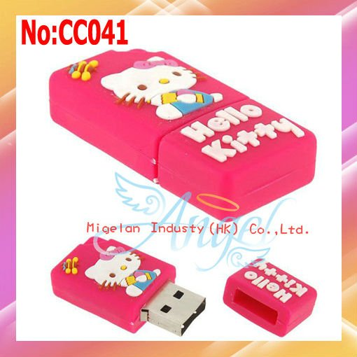 2014 Special Offer Seconds Kill Stock Animal Plastic No Wholesale1gb Usb Flash Disk Hello Kitty Drive free Shipping #cc041