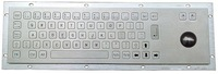 IP65 anti-vandal industrial metal keyboard with trackball(X-BN66B)
