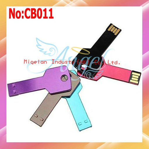 2013 Direct Selling Rushed Stock Black No Usb 2.0 free Shipping Wholesale 16gb Usb Flash Drive Mini Metal Key Disk #CB011