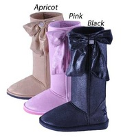 Free shipping Ladies Winter warm outdoor suede snowboard boot wool inner rubber Knee high flat boots for women WB43