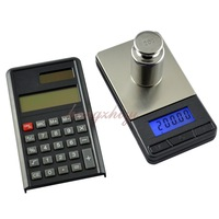 Electronic Pocket 200g x 0.01g Jewelry Gold Silver Gem Coin Digital Scale Balance w Calculator + Big Platform, Portable Scale
