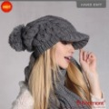 Holiday Sale Kenmont New Arrival Winter Hat, Promotional Hand Knit Wool Hat KM 1212-09 Dark Grey hut