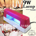 free shipping 2pcs/lot 9W UV LAMP UV LIGHT FOR GEL NAIL ART TIPS CURING USA plug(China (Mainland))