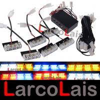 Red Blue 6x3 LED Strobe Flash Warning EMS Police Car Light Flashing Firemen Lights 6*3