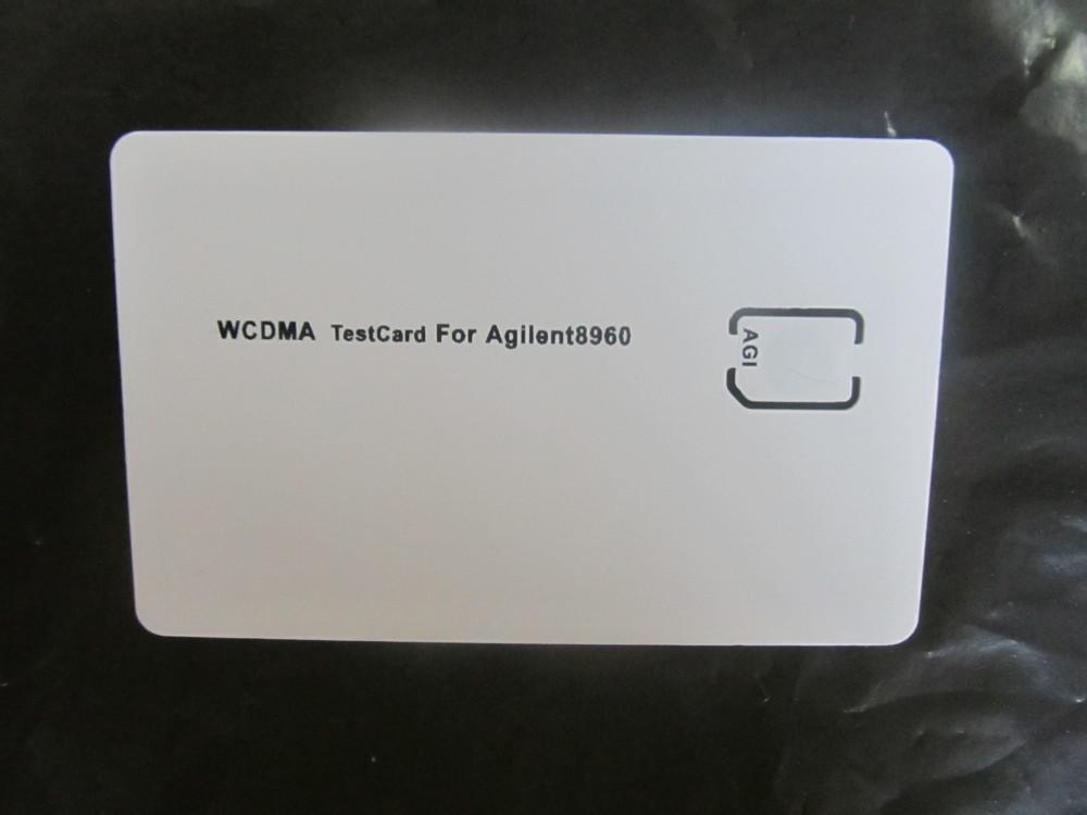 WCDMA 3G Mobile Phone Test Card sim card for Agilent 8960 Nano SIM Card test card