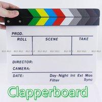 Clapperboard Clapper Board TV Film Movie Slate Colorful 1pcs NEW