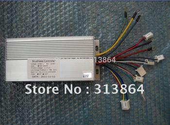 Free Shipping 48V 1000W 45Amax BLDC motor controller, E-bike brushless speed controller, compatible for sensor/sensorless motors