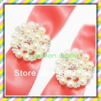 25mm 1 inch snowflake   shape wedding rhinestone pearls button