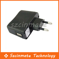 Free shipping USB AC Power Supply Wall Adapter MP3 Charger EU Plug 200pcs/lot Wholesale