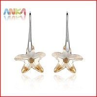 NEW Crystal Earrings/Lilic Purple Crystal Star Starfish Earrings UK make with Swaroski Elements #84881