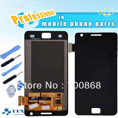 100% Guarantee Original For Samsung Galaxy S2 II i9100 LCD Display with Touch Screen Digitizer Assembly + Tools Free shipping(China (Mainland))