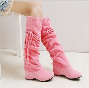 [CPA Free Shipping] Women's  Boots, Winter Knee High Boots,Snow boots, Shoes, Pink/Mud/Brown/Black/Beige/Yellow-SH-006