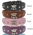 Free shipping ! wholesale Halloween dog Crossbones Necklace collars for pet with jewelry stones,  large dog collar 10pcs/lot