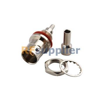 BNC Crimp Jack bulkhead o-ring connector 75ohm for RG179,RG174,RG316,LMR100