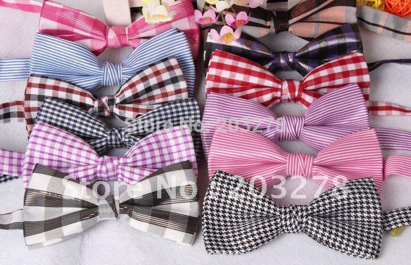 полосатые Мужские галстуки женские бабочку для
