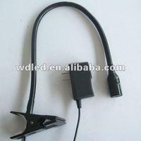 1W led clip table light/Led flexilbe pipe clip light/Clip led reading lamp
