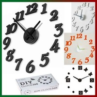 DIY alarm quartz clock mute electronic decorative wall clocks Free Shipping