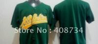 Free shipping-Oakland Athletics #Blank yellow/green jersey,Athletics jerseys,baseball jerseys