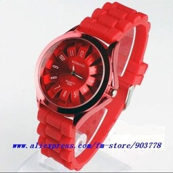 30pcs/lot dropshipping discount cheap new fashion silicone band jelly watch( 11colors, factory directly supply sport watch)(China (Mainland))
