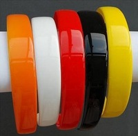 12pcs  25mm Blank Plastic Headbands With Teeth  Solid Candy Color headwear-Free shipping
