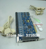 16-Channel PCI telephone Voice Recorder Card with free PC software,  Windows98/2000/NT/XP/2003/Vista /WIN7 32BIT