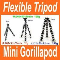 Mini Gorillapod Type Flexible Ball octopus Leg Mini Digital Camera Tripod Flexible Tripod Size S 165*35*35-45g Free shipping