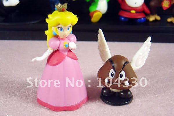 PVC Super Mario Bros Figure dinosaur android watch toys Figur 10 set/ 18 style lot(China (Mainland))