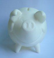 Diy painted  platform vinyl pig art box  used saving coines  for kids diy painted 12 pcs/lot free shipping