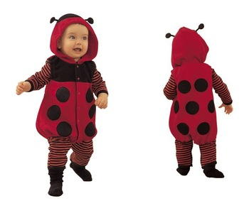Infant Lovely Animal Clothing With Cap baby romper Lady beetles style baby clothing FREE SHIPPING TTT027