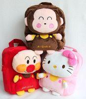 Free Shipping - cartoon bags, hello kitty / monkey / anpanman backpack, baby boys girls Backpack,gift for children (MOQ: 1pc)