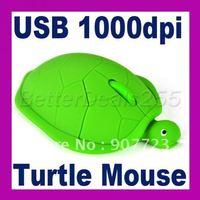 USB 3D Optical Cute Turtle Mouse Mice Laptop PC Comfort Hand WIN7