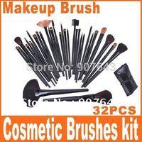 Big discount 32 pcs Professional Makeup Brush Sets Cosmetic Brushes kit + Black Leather Case