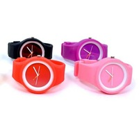 Candy colours Jelly Watches silicone watches 1000pcs option free shipping via DHL EMS