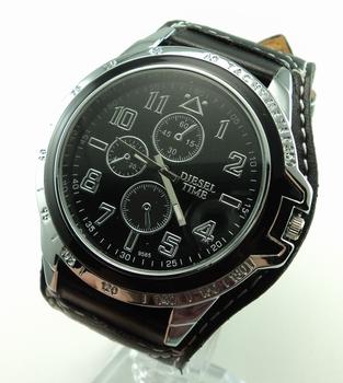 Free Shipping Wholesale Sport fashion leather wrist Watch Men analog Quartz Watch F557