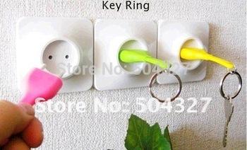 EMS Free Shipping Wholesale 100Pieces EU Unplug Keyring Unplug Keychain Key Ring Holder