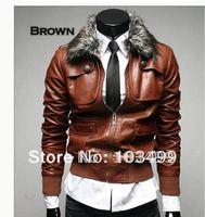 Latest Style Men's Coat ,Popular men's PU  Jacket Coat-SK296